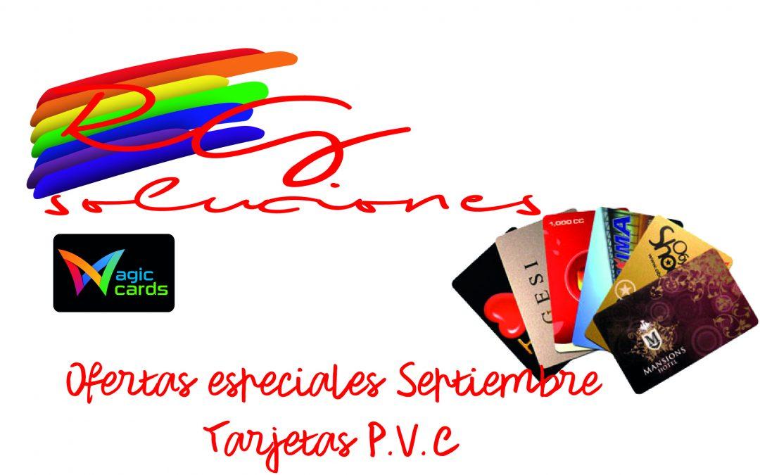 TARJETAS PVC-OFERTAS ESPECIALES SEPTIEMBRE